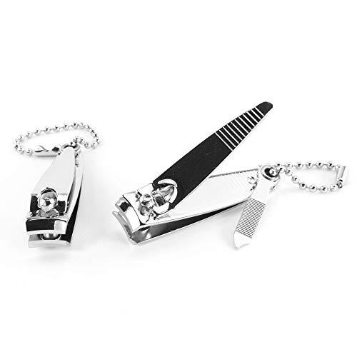 hibuy Nagelknipser Set - 2 Stück - 5,5 cm - Nagelschneider für Fingernägel & Fußnägel