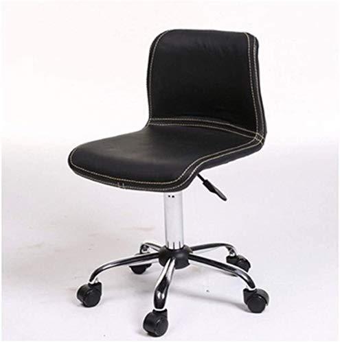 Shengluu Sillas De Oficina Los Altos giratoria Ajustable for el Ordenador sillas de Escritorio agraciado Sillas Recepción Juego Silla de Oficina Silla de Oficina Inicio 2020 Amazon (Color : Negro)
