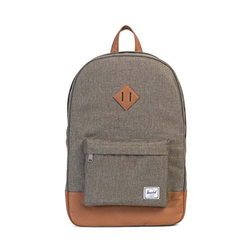 Herschel Supply Co. Patrimonio mochila, Canteen Crosshatch/Tan Synthetic Leather (negro) - 10007-01247-OS