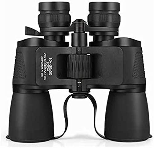 dh-9 Prismáticos 10-20x50, prismáticos Resistentes al Agua con Ocular Grande para Adultos y niños, prismáticos compactos y fáciles de enfocar