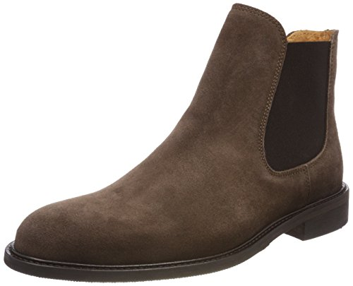 Selected Shdbaxter Chelsea Suede Boot STS, Bottes Homme, Marron (Cocoa Brown), 44 EU