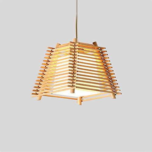 KMYX Lámpara de araña de madera moderna creativa Lámpara de techo de 1 luz o lámpara de techo de 3 luces para el restaurante Home Barra de altura ajustable luces colgantes (tamaño : Single head)