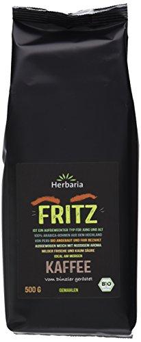 Herbaria Fritz Kaffee gemahlen BIO, 5er Pack (5 x 500 g)