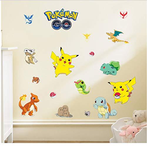 petit un compact GKAWHH Pokemon GO pépinière monstre Pikachu motif autocollant mural décoratif