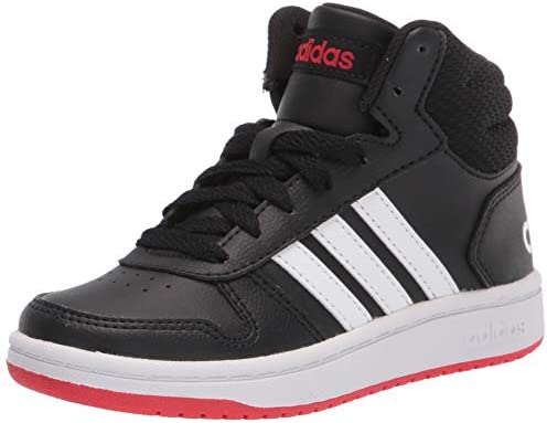 adidas Hoops Mid 2 0 Basketball Shoe Black White Vivid Red 2 US Unisex Little Kid product image