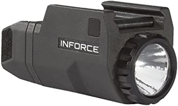 InForce APLc Compact WML Weapon Mounted White Light For Glock Auto Pistol 200 Lumens Black ACG-05-1