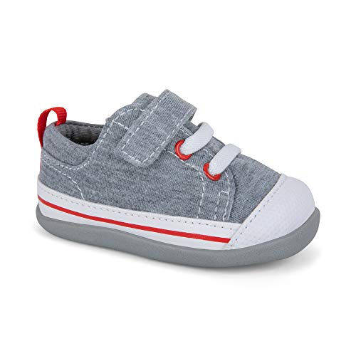 See Kai Run - Stevie II Sneakers for Infants, Gray Jersey, 4