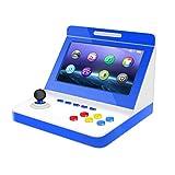 gaoxiaomei controller portatile per gamepad, console di gioco con joystick retrò portatile psp console di gioco con schermo ips da 9,1 pollici gameboy,blu