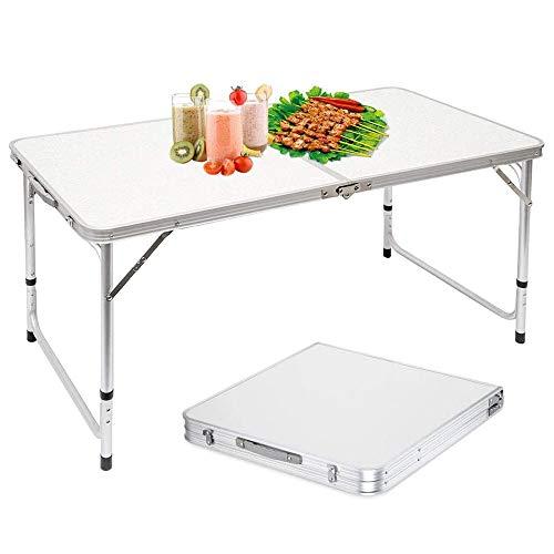 HWZQHJY Klapptisch, Leichtklapp Stabiler Aluminium Roll Up Tisch, for Indoor- und Outdoor-Picknick, Strand, Wandern, Reisen, Angeln
