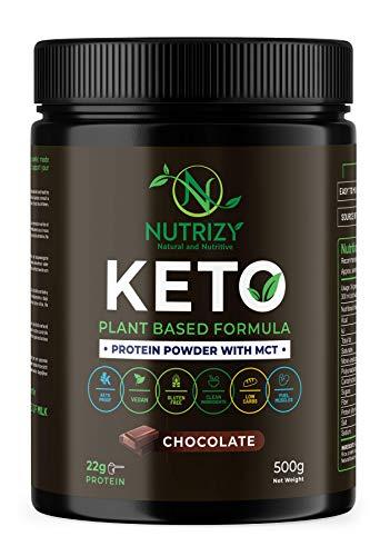 Nutrizy - Supplément Keto - Poudre MCT Protéinée - Vegan - Perte de poids - Substitut de repas - Pas d'additifs - Low Carb - Plant based - Healthy - Naturel