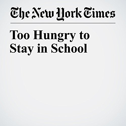 Too Hungry to Stay in School copertina