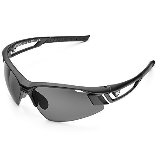 Briko Herren URAGANO Polar Brille, 960 matt Black -POG3, One Size