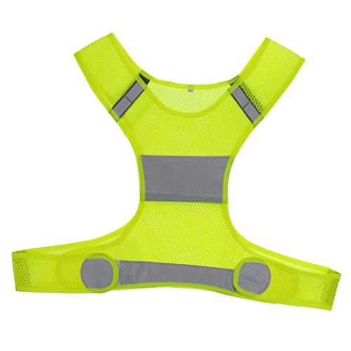 MagiDeal Veste Réflecteurs à Haute Visibilité Running Jogging Gilet De Sécurité Accessoire De Vélo - Jaune, 41 cm