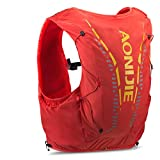 AONIJIE 12L Profesional Ligero Mochila de hidratación Superior Chaleco para Trail Running Ciclismo Marathoner para Hombre Mujer (Naranja-S/M)