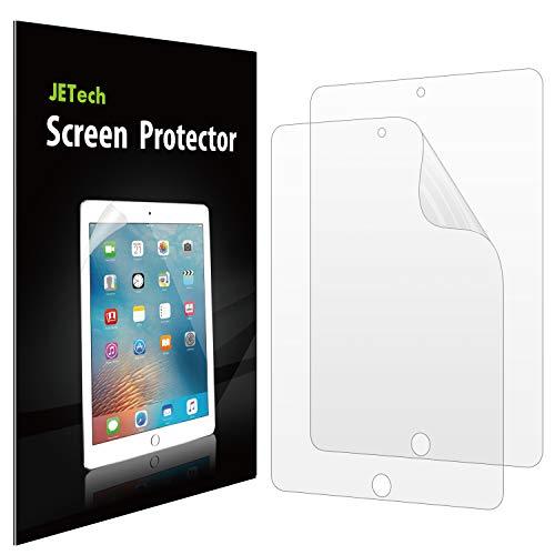 JETech Schutzfolie Kompatibel mit iPad (9,7-Zoll, 2018/2017 Modell), iPad Air 1, iPad Air 2, iPad Pro 9,7-Zoll, PET HD Klar Bildschirmschutzfolie, 2 Stück