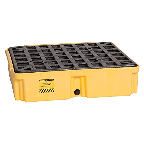 Eagle 1633D Yellow 1 Drum Modular Platform with Drain