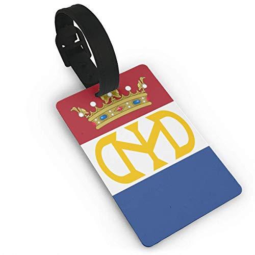 Etiquetas de equipaje de la bandera de Holanda para equipaje de viaje, accesorios (2.2 x 3.7 pulgadas), 2 piezas