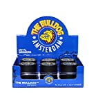 Bulldog Amsterdam Grinder (50mm) Tabacco Smerigliatrice, Spezie Erbe Grinder in 2 Pezzi Tritino in Metallo - Nero
