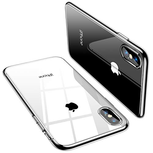 TORRAS Crystal Clear Compatible for iPhone Xs Max Case, [Non-Yellowing] Soft Silicone Shockproof TPU Slim Thin Protective Phone Cover Case for iPhone Xs Max 6.5 inch - Crystal Clear