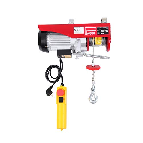 Paneltech 200kg / 800kg / 1000kg Verricello Elettrico 220v Paranco Argano paranchi elettrici montacarichi elettrico (800KG)