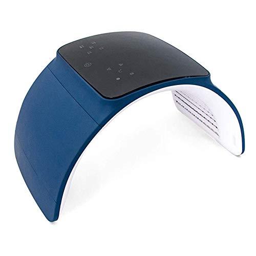 PDT 7 Farb-LED Gesichtsmaske Beauty GeräT,PDT-Photoverjüngung Lichttherapie Maske Akne Beauty gerate Gesicht Faltbare,verwendbar für Behandlungaknefalte Klare Anti-Altern-Gesichtspflege