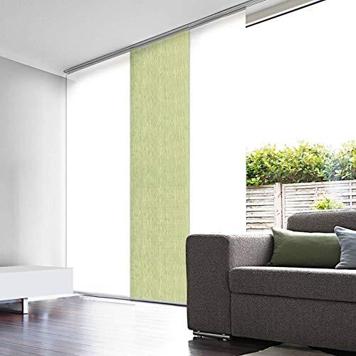 madecostore - Estor japonés, algodón, Color Verde Helecho, 45 x 260 cm