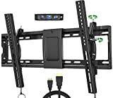 FOZIMOA Tilt TV Wall Mount Bracket for Most 32-86 Inches TVs, TV Mount with VESA up to 600x400mm, Fits 16', 18', 24' Studs and Loading Capacity 165 lbs, Low Profile and Space Saving WLT103M