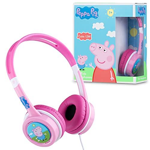 Peppa Pig Auriculares Infantiles para Niñas, Cascos Musica Niños, Auriculares Diadema con...