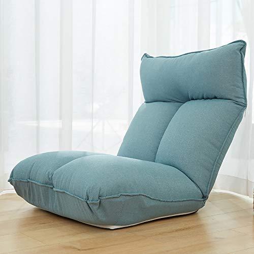 Soporte para La Espalda Sofá Perezoso Suelo Silla Plegable para Juegos Muebles Creativos Acolchados Ajustables Hogar,Azul,8 Gears
