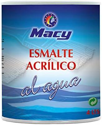 Esmalte Agua Satinado Multisuperficies Macy para Interior y Exterior. 375 Mililitros. Color Negro