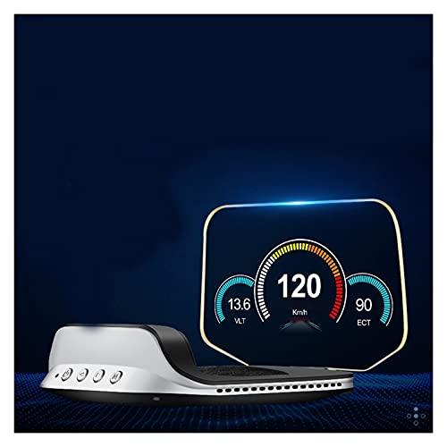 pantalla de visualización frontal para coches Doble sistema OBD2+GPS HUD Mostrar velocímetro de automóvil de alto rendimiento Turbo Boost Medidor de presión Alarma Aceite Aceite Agua Temp Temper Códig