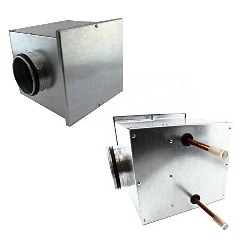 Heizregister bis 66 KW Lufterhitzer Wärmetauscher Heizung Luftheizung Wasser Ø 125 mm