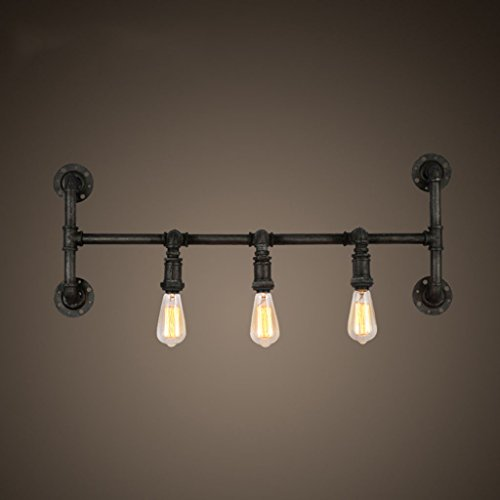 ZWL Rétro lampe à eau d'eau de fer Lampe murale de restaurant Lampe de bar, Loft Têtes multiples Étude de salon E27 Cafe Corridor Aisle Lights mode (taille : #3)