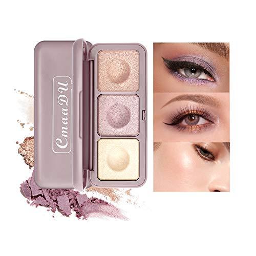 Lidschatten-Paletten, Mimore Pearl Glitter Shimmer Metallic Pearl Lidschatten-Palette, hochpigmentierte Kosmetik-Palette Langlebige Augenpuder-Make-up-Palette