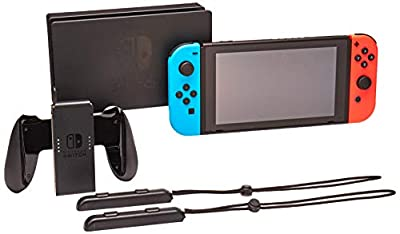 Nintendo Switch System Console , Neon Blue & Neon Red with Mario Tennis Aces & 1-2-Switch from Nintendo