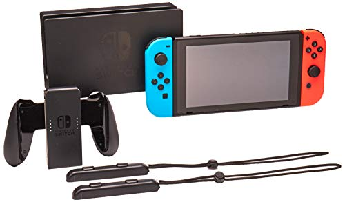 Nintendo Switch System Console , Neon Blue & Neon Red with Mario Tennis Aces & 1-2-Switch