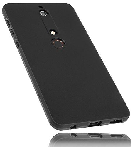 mumbi Hülle kompatibel mit Nokia 6 2018 Handy Hülle Handyhülle, schwarz