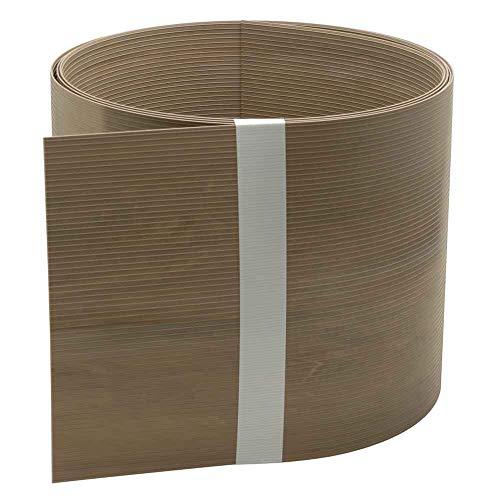 INTRA-TEC Design-Zaun-Sichtschutzstreifen Holzdekor Caramel Oak - 10 Stück aus Hart-PVC 252x19 cm für Doppelstabmattenzäune, Holzoptik