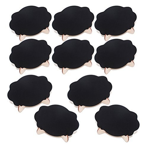 ULTNICE 10Pcs Mini tableau en bois panneau de nuage de tableau noir nuage tableau de bord pour le mariage et la cuisine