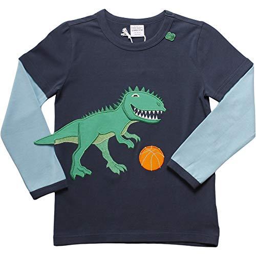 Fred's World by Green Cotton Hello Dinosaur T T Shirt, Blu (Midnight 019411006), 10 (Taglia Produttore: 110) Bambino