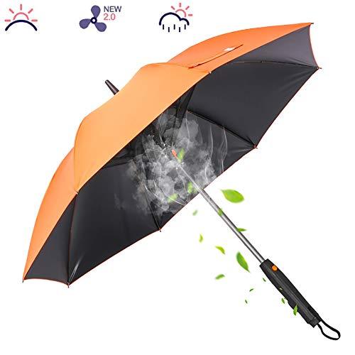 LHDQ Sonnenschirm-Regenschirm-Ventilator-Wasser-Spray Kreative Fan Regenschirme mit UV-Schutz-windundurchlässiger Schnell trocknend