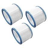 vhbw Set de filtros 3x Filtro plisado compatible con Nilfisk/Alto/Wap Multi 20, 30 aspiradora en seco y mojado - Filtro, cartucho