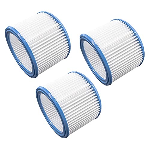vhbw Set de filtros 3x Filtro plisado compatible con Nilfisk IVB 3, IVB 7X ATEX Z22, VL200 aspiradora en seco y mojado - Filtro, cartucho