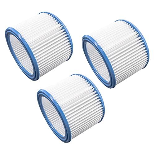 vhbw Set de filtros 3x Filtro plisado compatible con Stihl SE 60 E, SE 61, SE-62, SE 85 C, SE 90 aspiradora en seco y mojado - Filtro, cartucho