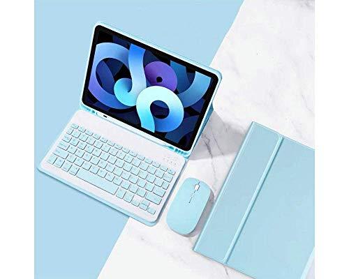 iPad Mini 5 Keyboard Case+ Mouse Detachable Wireless Bluetooth Keyboard Pencil Holder Slim Leather Smart Cover for iPad Mini 5th Gen 2019 (iPad Mini 5, Sky Blue)