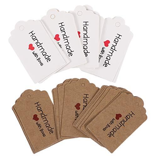 BESPORTBLE 200 Stück Kraftpapieranhänger Geschenk Hängen Tag Backen Lebensmittelverpackung Tags Verpackung Etikett