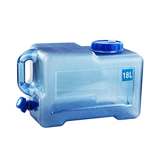 ZSYGFS Bidón de Agua Bidón Plástico con Grifo Depósito De Agua Contenedor De Agua con Tapa Y Grifo Tanque De Agua del Coche Dispensador De Agua Almacenamiento De Bebidas Botella De Agua De Plástico