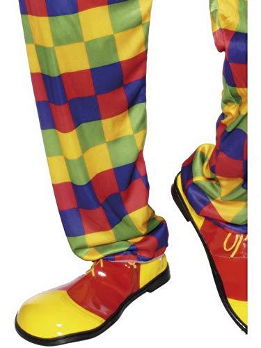 Karnevalsbud - Kostüm Accessoires Zubehör Zirkus Clown Schuhe Deluxe, perfekt für Karneval, Fasching und Fastnacht, Gelb