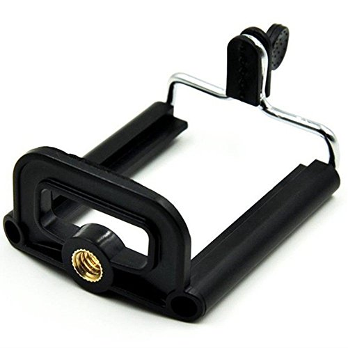 Aorna Camera Stand Clip Bracket Holder Tripod Monopod Mount Adapter for Mobile Phones (Single)