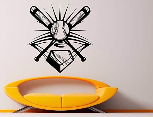 JJHR Wandtattoos Wandaufkleber Wandaufkleber Design Innen Wohnkultur Baseball Sport Berühmte Spielzimmer Dekor Abnehmbare Wandaufkleber 42 * 45 cm